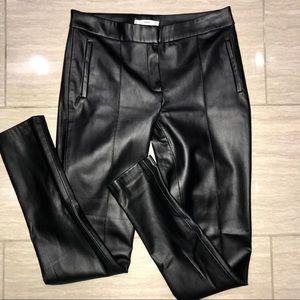 Mango Faux Leather Pants Size 4